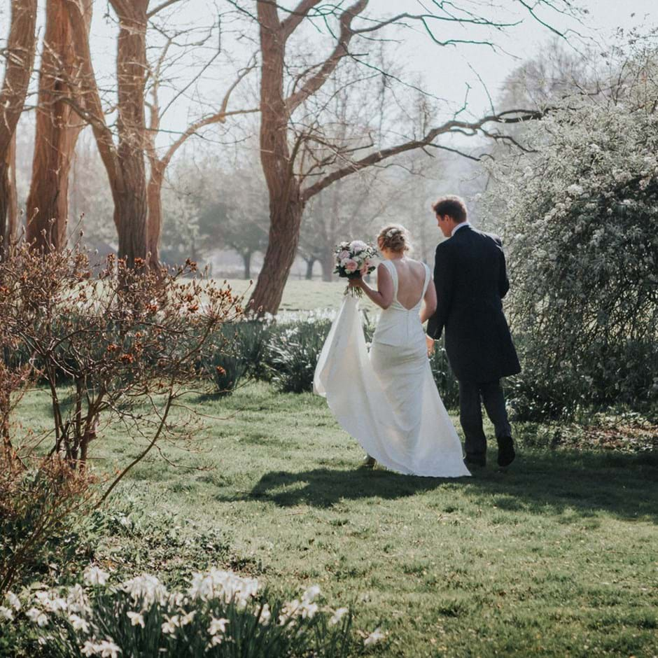 Horsted Place Wedding Bride And Groom