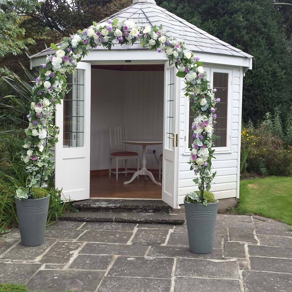 Summerhouse Prepared For Ceremony