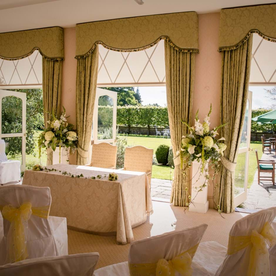Terrace Room Ready For Civil Ceremony
